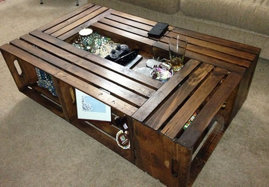 making table from crates