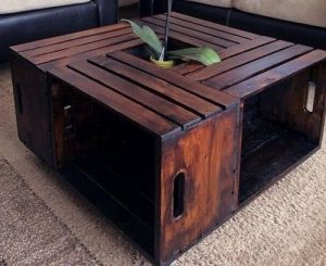 Creating the crate coffee table